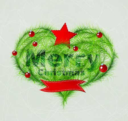 Christmas love heart Stock Vector - 16236713