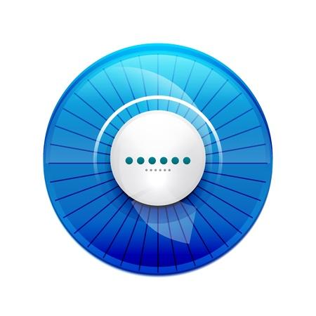 control panel: Blu lucido pannello di controllo