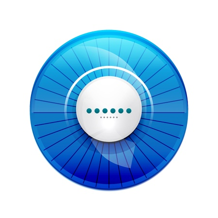 Blue glossy control panel Vector
