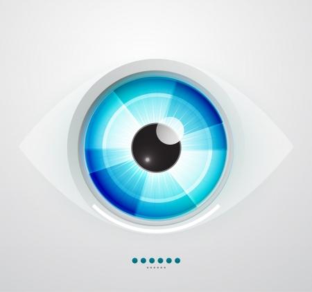 round eyes: Abstract techno eye  Vector illustration