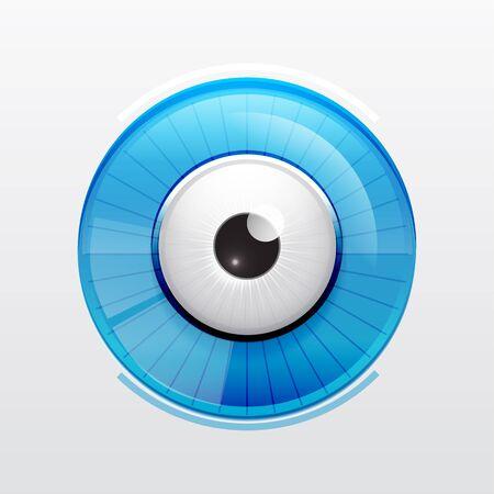 Abstract techno eye  Vector illustration Stock Vector - 16331008