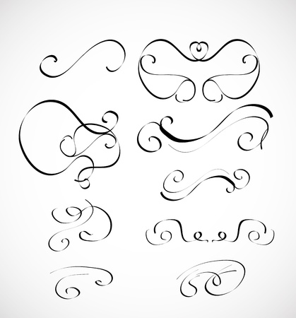 Vector set of calligraphic design elements Stock Vector - 16426022