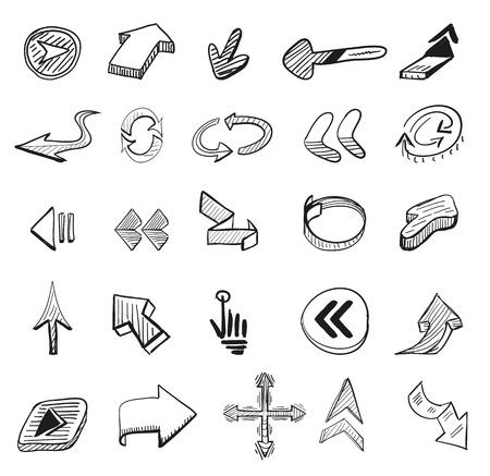 25 hand drawn arrows Stock Vector - 16520484