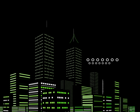 Night modern city abstract background Vector
