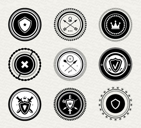 Vintage retro protect badges and labels Stock Vector - 16750081