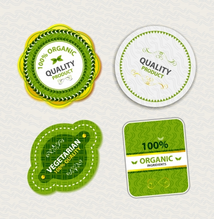 Set of organic food badges and labels Stock Vector - 16811220