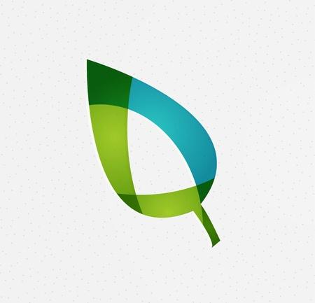 naturel: Green concept de vecteur de feuilles Illustration