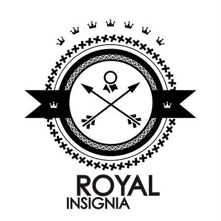 Black retro vintage label   tag   badge   royal stamp photo