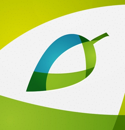 life style: Green leaf vector concept