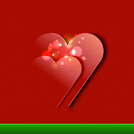 Vector Valentine s Day Card design illustration Stock Vector - 17205091