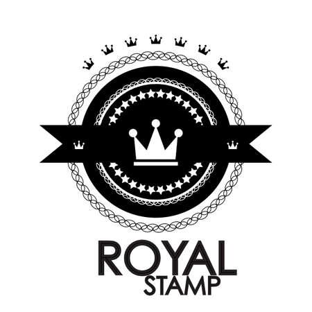 Black retro vintage label   tag   badge   royal stamp Vector