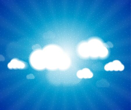 White clouds in the blue clear sky   background Stock Vector - 17259285