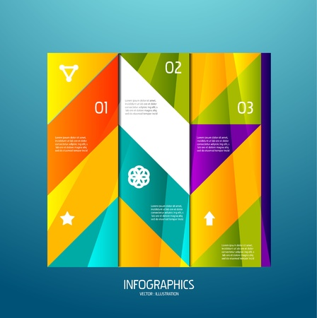 Infographic banner design elements, numbered lists Vector