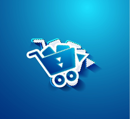Go shopping concept   illustration Vector