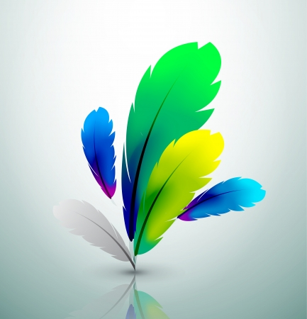 creative writing: colorful feather design Illustration