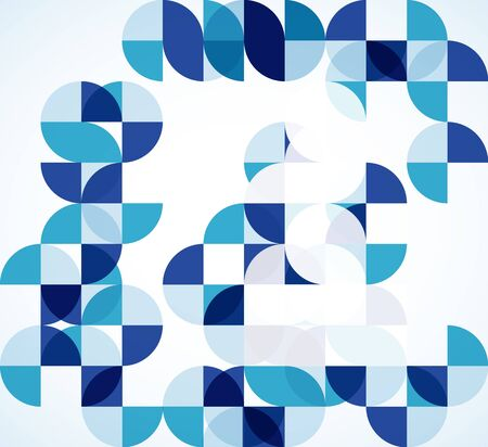 Blue modern geometric abstract background photo