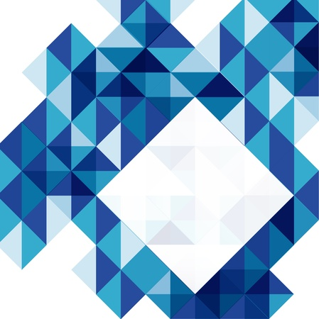 Blue modern geometric design template Vector Illustration