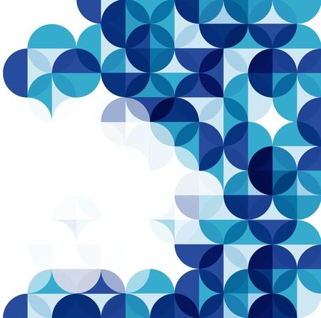 抽象的な: ブルーのモダンな幾何学的な抽象的な背景