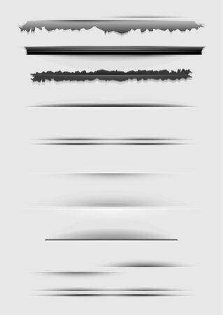 Vector set of abstract dividers isolated on gray Stock Photo - 17776299