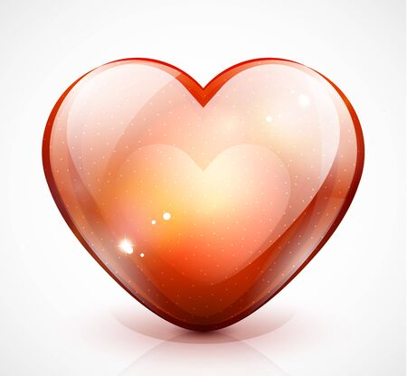 Glossy valentine heart  Vector illustration Vector
