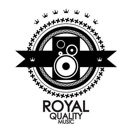 Black label royal quality music stamp photo