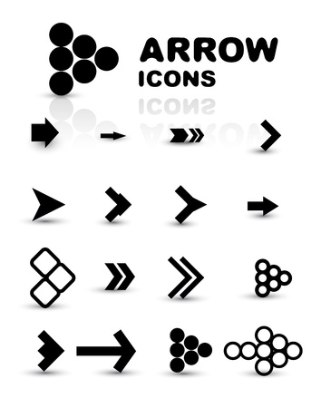 previous: Vector set of black arrow icons
