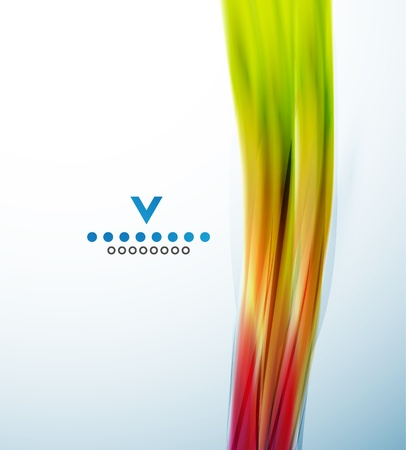 narrow: Colorful narrow wave abstract design template Illustration