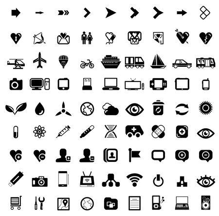 Big set of black universal web icons Stock Photo - 17935788