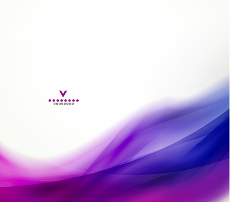 purple swirls: Colorful abstract wave design template