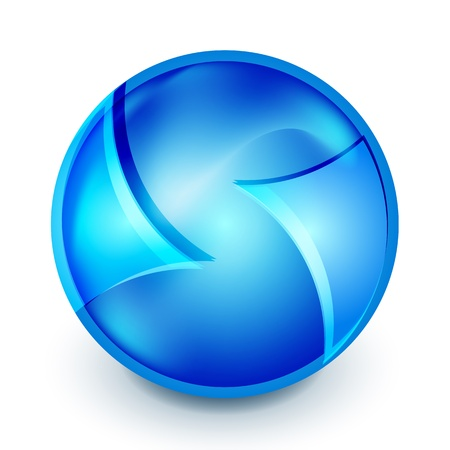 Blue hi-tech globe symbol Vector