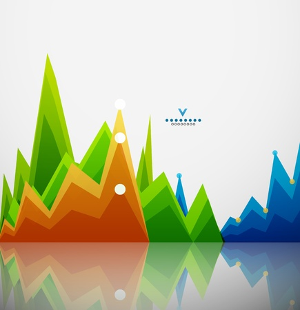 Colorful graphs background Vector