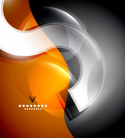 element template: Digital wave design template