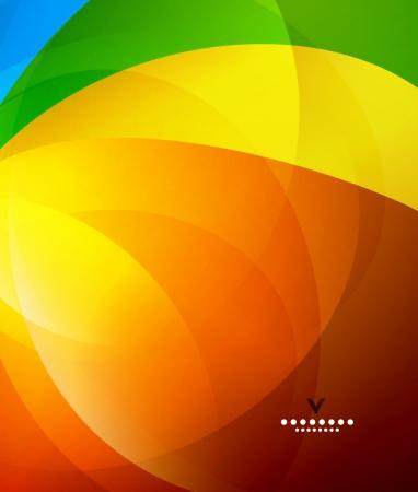 Kleurrijke glanzende abstract ontwerp sjabloon Vector Illustratie