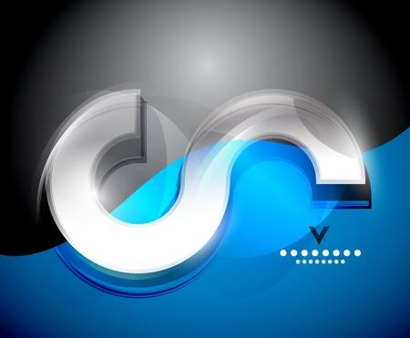 digital wave: Ola Digital plantilla de dise�o Vectores