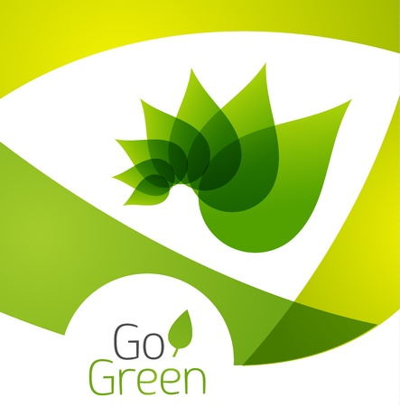 Green leaf icon concept Stock Vector - 18156727