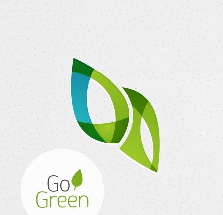 Green leaf icon Konzept