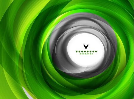 Green eco swirl abstract design template Vector