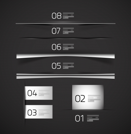 Set of web box shadows and dividers Vector