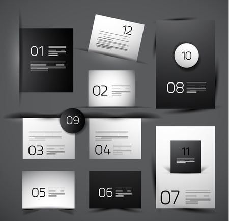 Set of modern web shadow design templates Vector