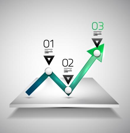 Modern infographic design template - arrow graph Stock Vector - 18511478