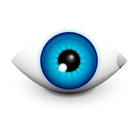 round eyes: Hi-tech eye concept icon design