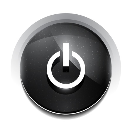 black power button Vector