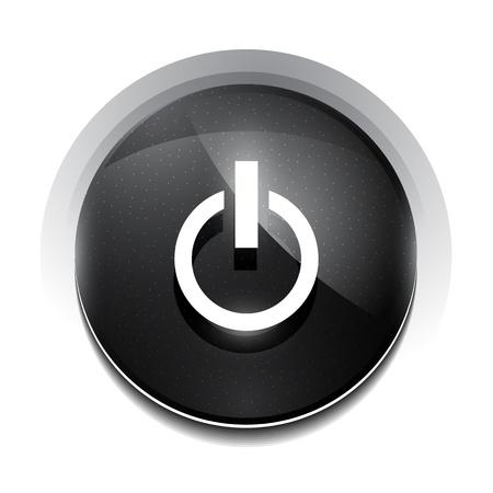 black power button Stock Vector - 18626303