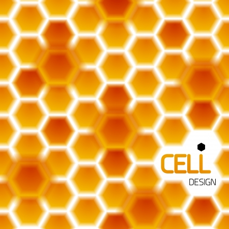 Abstract geometrical honey cells modern template Vector