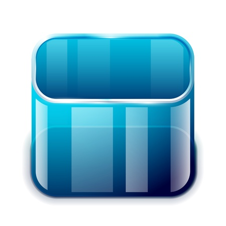 touch sensitive:  app glass container icon Illustration