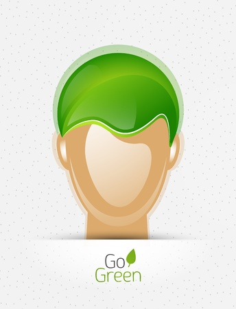 Nature concept eco man Vector
