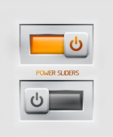 power sliders modern icons Stock Vector - 18687600