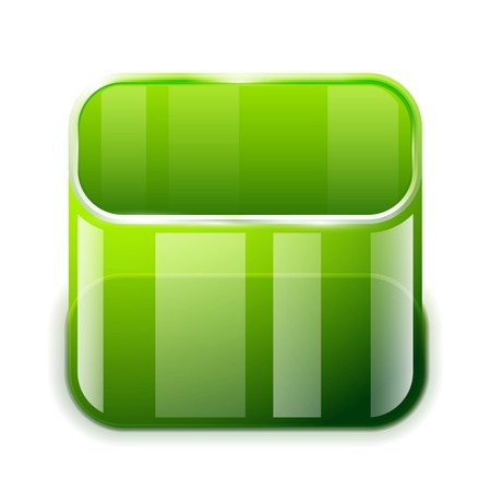 app glass container icon Stock Vector - 18687563