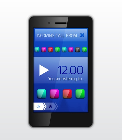 Mobile phone applications vector concept Vector
