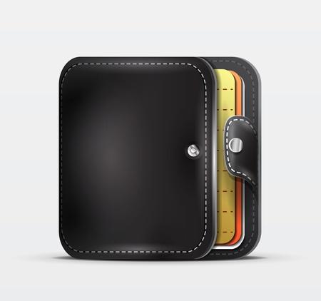 Wallet   organizer mobile app icon Stock Vector - 18728623